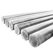 "1""x3' Steel Rounds (Unthreaded) Zinc (3/Bulk Pkg.)"