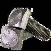 "1""-8x2-1/2"" (FT) A307 Grade A Square Head Bolt Zinc Cr+3 (80/Bulk Pkg.)"