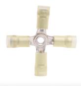 12-10 AWG 3-pc Nylon Insulated w/Sleeve 4-Way Splice Connector (100/Pkg.)