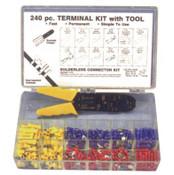 240 pc Vinyl Terminal Kit W/Crimper Tool