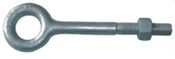 "1-1/4""x4"" Plain Pattern Nut Eye Bolt, Hot Dipped Galvanized (3/Pkg.)"