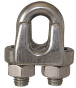 """3/16"""" Wire Rope Clip, Stainless Steel (75/Pkg)"""