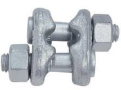 """1-1/8"""" Forged Fist Grip Clip, Hot Dipped Galvanized (5/Pkg)"""