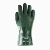 Snorkel Chemical-Resistant Gloves, Size 10, PVC/Nitrile/Nylon/Jersey, Green (12 Pair)