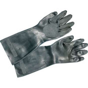 Neoprene Flock-Lined Gloves, Long-Sleeved, Medium, Black (12 Pair)