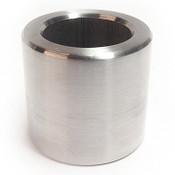 "1/2"" OD x 1/4"" L x #25 Hole Stainless Steel Round Spacer (100/Bulk Pkg.)"