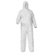 A35 Liquid & Particle Protection Coveralls, Large, White (25/Case)