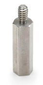 "1/2"" OD x 1-1/4"" L x 25-20 Thread Aluminum Male/Female Hex Standoff, Plain (50/Bulk Pkg.)"