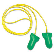 Max Lite Single-Use Earplugs, Corded, 30NRR, Green (100 Pairs)