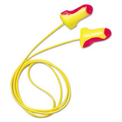 Laser Lite Single-Use Earplugs, Corded, 32NRR, Magenta/Yellow (100 Pairs)