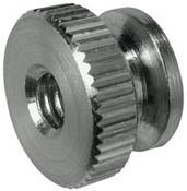 "4-40x5/16"" Round Knurled Thumb Nuts, Aluminum (50/Pkg.)"