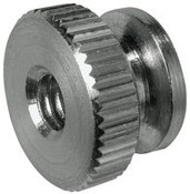 "10-24x1/2"" Round Knurled Thumb Nuts, Aluminum (50/Pkg.)"
