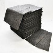 "MAXX Enhanced Sorbent Pads, .25 gal Capacity, 15"" x 19"", Gray (100/Pkg.)"