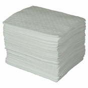 """MAXX Enhanced Oil-Only Sorbent Pads, .3 gal Capacity, 15"""" x 19"""", White (Qty. 100)"""