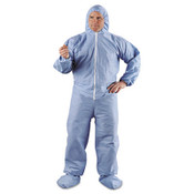 A65 Hood & Boot Flame-Resistant Coveralls, Blue, 4XL (21/Case)