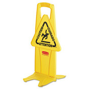 "Stable Multi-Lingual Safety Sign, 13"" x 13 1/4"" x 26"" (Qty. 1)"