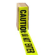 "Barrier Tape, ""Caution Do Not Enter"" Text, 3"" x 1000 Ft., Yellow/Black (8 Rolls/Case)"