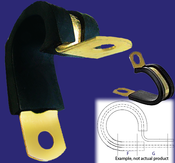 """3/4"""" 2-Tube Cushioned Cable Clamp (20/Pkg.)"""