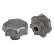 "Kipp .312"" Inside Diameter 40 mm Diameter, Star Grip Knob, Gray Cast Iron, DIN 6336, Style C (1/Pkg.), K0151.3CN"