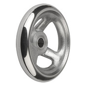 "Kipp 100 mm x .375"" ID 3-Spoke Handwheel without Machine Handle, Aluminum DIN 950 (1/Pkg.), K0160.0100XCO"