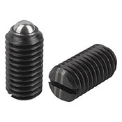 """Kipp 1/2""""-13 Spring Plungers, Ball Style, Slotted, Steel, Heavy End Pressure (25/Pkg.), K0309.2A5"""