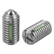 """Kipp 1/2""""-13 Spring Plungers, LONG-LOK, Ball Style, Slotted, Stainless Steel, Heavy End Pressure (5/Pkg.), K0322.2A5"""