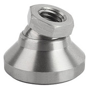 "Kipp 5/8""-11x50 mm Leveling Pads, Stainless Steel Pressure Foot & Ball Element (1/Pkg.), K0395.3A6"
