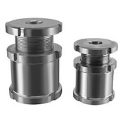 Kipp M15x1.0 Dia Height Adjustment Bolt with Counter-Nuts for M4 Screw, Stainless Steel (1/Pkg.), K0693.010041