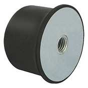 Kipp M10 x 50 mm (D) x 35 mm (OAL) Rubber Spherical Impact Buffer, Galvanized Steel (1/Pkg.), K0576.05003555