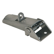 Kipp Adjustable Latch, Screw-on Holes Visible, Stainless Steel, Style C - For Padlock (1/Pkg.), K0046.3420722