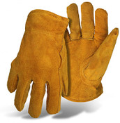 BOSS Pile Insulated Split Leather Driver Glove, Size Large (12 Pair)
