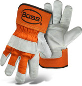 BOSS Double Leather Palm, Orange Cuff (Small)