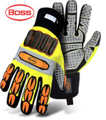 BOSS High Impact Safety Glove w/ Finger Protection