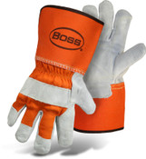 BOSS Orange Leather Palm with Gauntlet Cuff