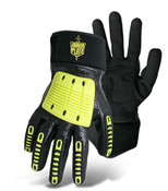BOSS ArmourPlate Cut Resistant Gloves, HPPE Fiber Blend Shell, Liquid Proof, Fully Dipped in Nitrile, Neoprene Cuff & TPR on Fingers and Back of Hand. Size Large (12 Pair)