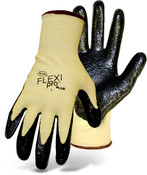 Boss Flexi Pro Plus Cut Resistant Aramid Knit Gloves w/ Nitrile Coated Palm, Size Large (12 Pair)