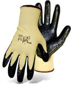 Boss Flexi Pro Plus Cut Resistant Aramid Knit Gloves w/ Nitrile Coated Palm, Size XL (12 Pair)