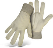 BOSS Reversible 6.5 oz.  Jersey Knit Wrist, Natural, One Size (12 Pair)
