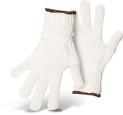 BOSS 80/20 Cotton/Poly Bleached White String Knit Safety Gloves, Size: Large (12 Pair)