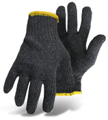 BOSS 60/40 Cotton/Poly String Knit Gloves, Gray, Size Large (12 Pair)