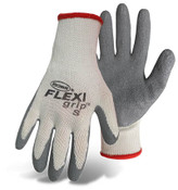BOSS FLEXI Grip String Knit Gloves w/ Latex Coated Palm, Crinkle Grip, Size Large (12 Pair)
