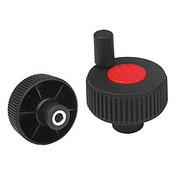 "Kipp .250"" (ID) x 40 mm (D) Novo-Grip Positioning Wheels, Size 1, Style H, Red (10/Pkg.), K0262.21CM6"
