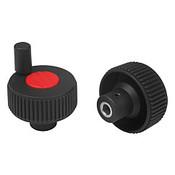 "Kipp .250"" (ID) x 40 mm (D) Novo-Grip Positioning Wheels, Size 1, Style M, Red (10/Pkg.), K0262.11CM6"