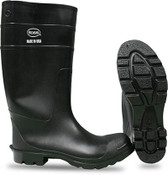 """BOSS 16"""" Economy PVC Knee Boot, Plain Toe, Size: 10 (1 Pair)"""