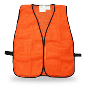 Economy Poly-Mesh Fluorescent Orange Safety Vest, One Size Fits Most (Qty. 12)