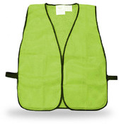 Economy Poly-Mesh Fluorescent Green Safety Vest, One Size Fits Most (Qty. 12)