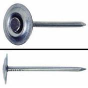 """1"""" 8-Gauge Metal Round Cap Masonry Nails, Fluted Shank (50 lb./Carton)"""