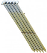 """2"""" x .113"""" 28-degree Wire Weld Offset Round Head Nails, Electrogalvanized, Ring Shank (2,500 Pcs./Box)"""
