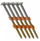 "2"" x .113"" 21-Degree Plastic Strip Round Head Nails - Bright Coated, Ring Shank (2,500 Pcs./Box)"
