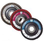 "Surface Preparation Wheel - 4-1/2"" x 5/8""- 11- X-Coarse, Mercer Abrasives 396HBL (10/Pkg.)"